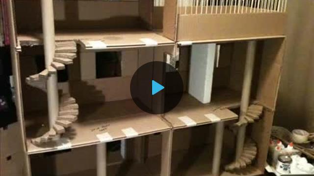 Видео как сделать своими руками домик для кота