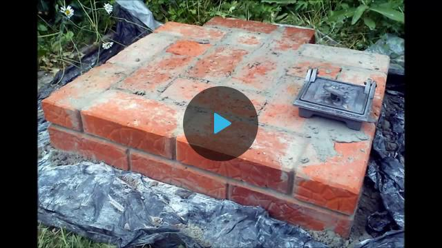 Уличная печь-мангал-коптильня своими руками