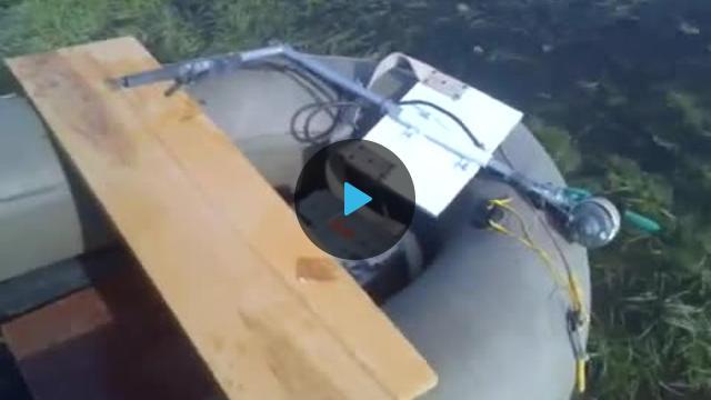 видео самодельный электромотор к надувной лодке
